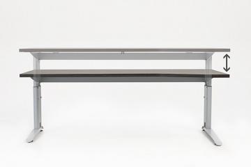 Schreibtisch Höhenverstellbar Mit C Fuß, Breite 80 Cm