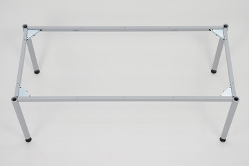 Schreibtisch 4 beine vierkantrohr 5x5 cm breite 120 cm for Schreibtisch x beine