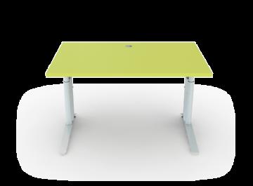 Schreibtisch Höhenverstellbar Mit C Fuß Breite 120 Cm Premium