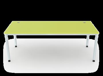 schreibtisch 4 beine rundrohr 5 cm breite 200 cm. Black Bedroom Furniture Sets. Home Design Ideas
