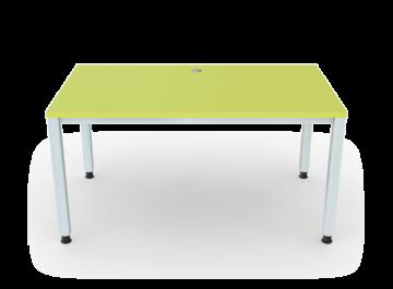 schreibtisch 4 beine vierkantrohr 5x5 cm breite 140 cm premium m bel erzgebirge gmbh. Black Bedroom Furniture Sets. Home Design Ideas